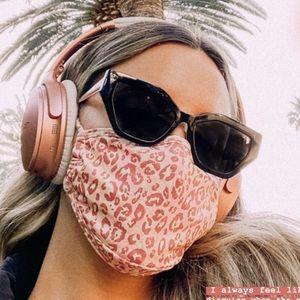 Pink Leopard Print Face Mask